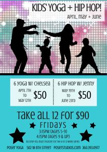 Kids' Yoga + Hip Hop! (April to June)